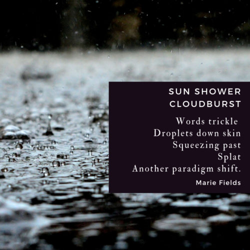 sun shower cloudburst