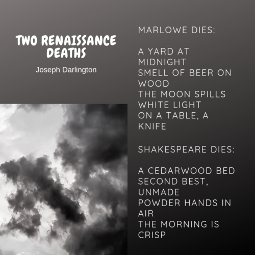 micropoems - renaissance - two renaissance deaths