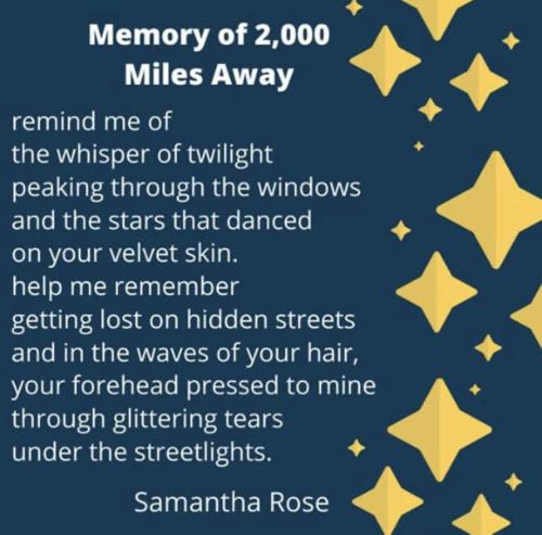 Memory of 2,000 Miles Away